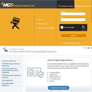 Hızlı Geçiş Sistemi (HGS) İhlalli Geçiş Bilgileri Sorgulama