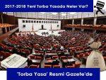 2017-2018 Torba Yasa Resmi Gazete'de yayımlandı