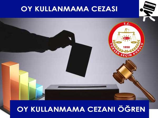 Seçimlerde oy kullanmama cezası