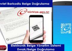 e-Devlet Belge Doğrulama
