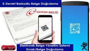 e-Devlet Belge DoÄŸrulama